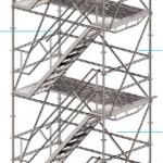 Escalera torre acceso peldaños