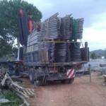 Descarga de andamios en Ibiza